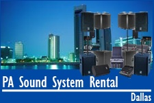 Pa System Dallas Rentals